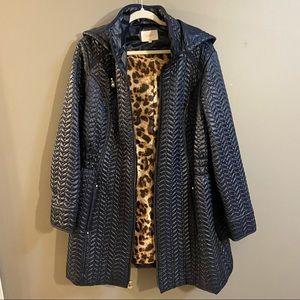 Laundry blue navy quilt lightweight puffer coat